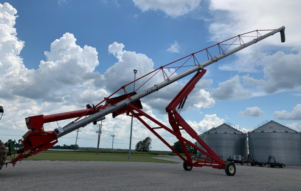 Portable grain augers and conveyors at Triple J Equipment